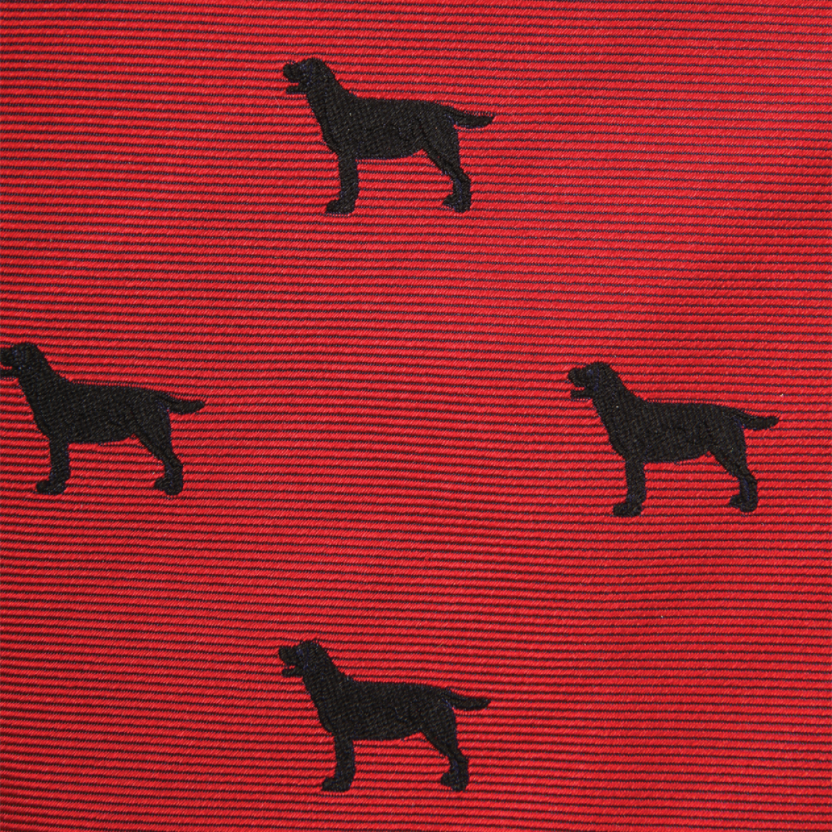 Woven Black Lab Gent - Red